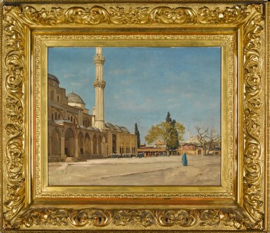 View 2. Thumbnail of Lot 159. Devant La Mosquée, Constantinople.