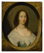 Portrait of a lady, bust length, in a painted oval