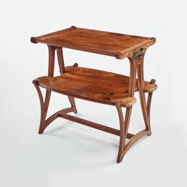 """View 1. Thumbnail of Lot 19. """"Butomées"""" Two-Tiered Tea Table."""