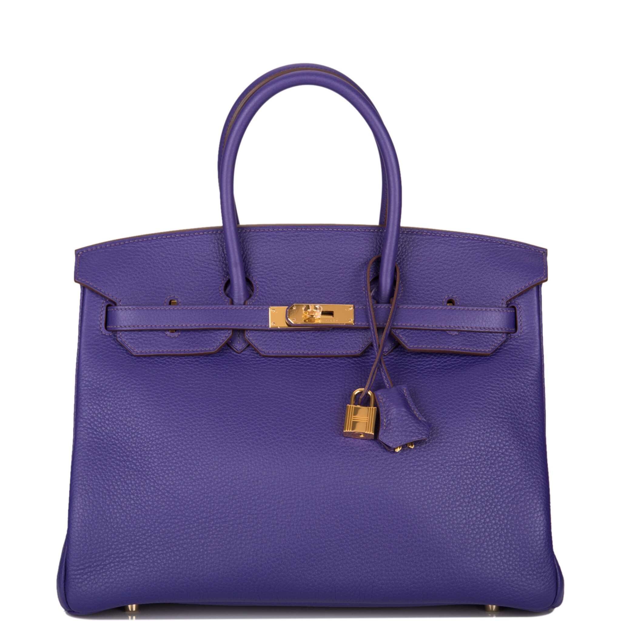 View full screen - View 1 of Lot 19. Hermès Iris Birkin 35cm of Togo Leather with Gold Hardware.
