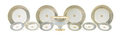 View 7. Thumbnail of Lot 82. A SÈVRES FOND AGATE COMPOSITE PART DESSERT SERVICE, VARIOUS DATES, PREDOMINANTLY 1833-1859.