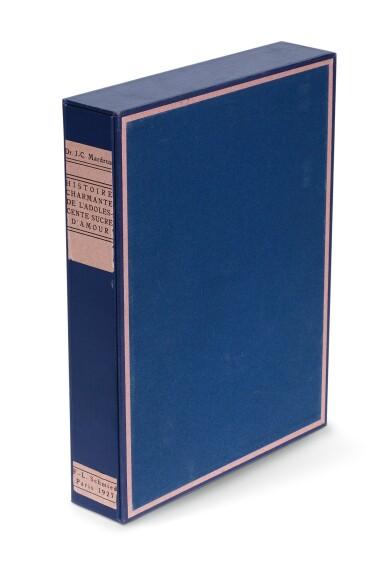View 4. Thumbnail of Lot 97. Schmied and Mardrus, Histoire charmante de l'adolescente sucre d'amour. 1927. 4to. original wrappers.