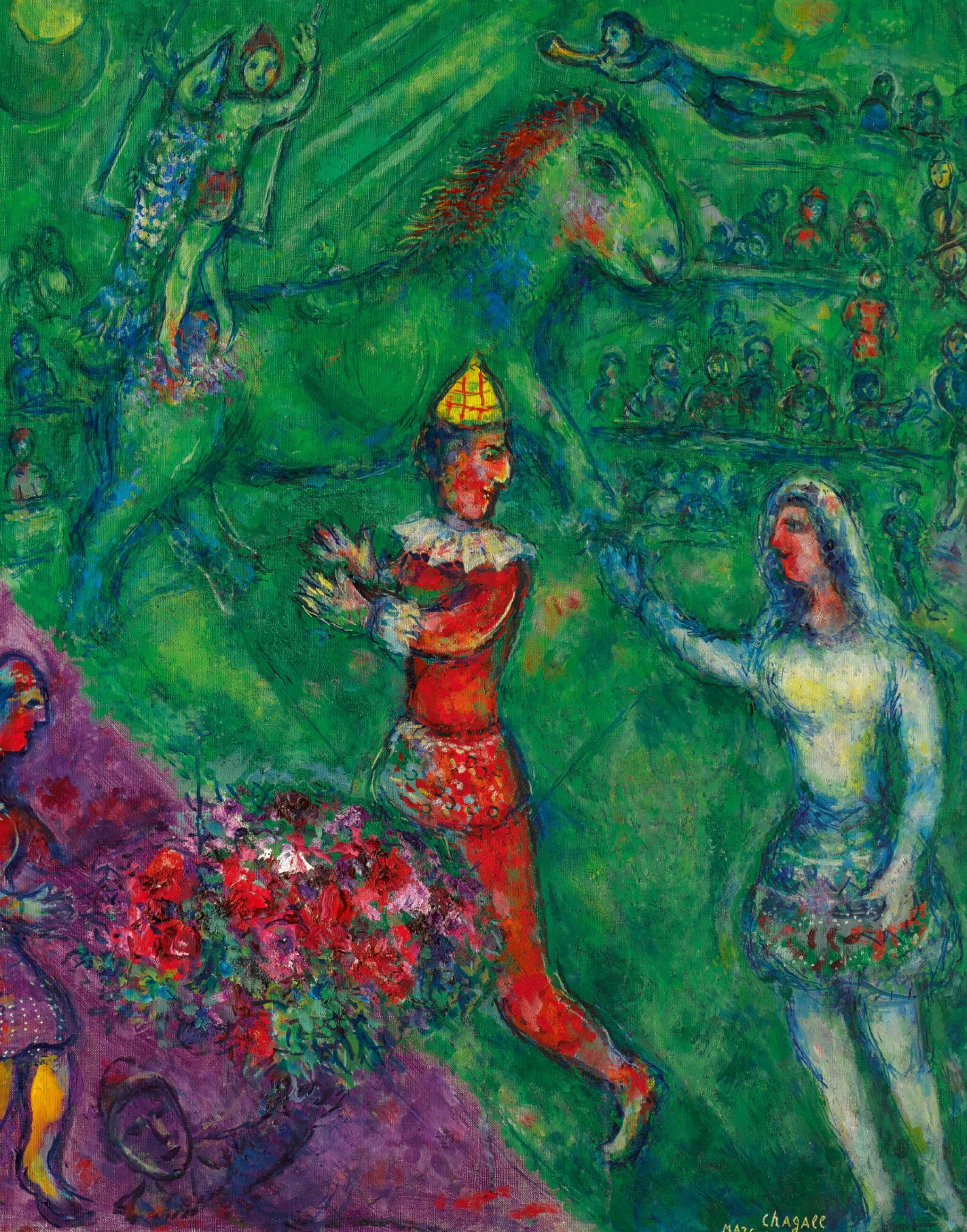 View full screen - View 1 of Lot 1012. MARC CHAGALL | LE CIRQUE VERT.