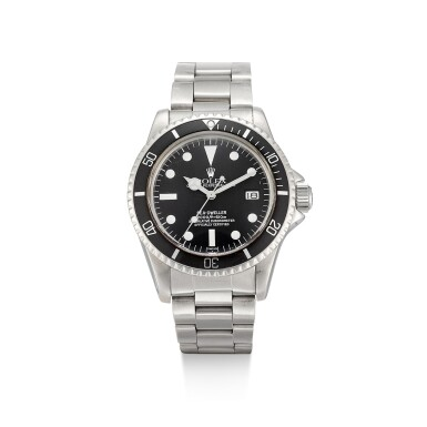 View 1. Thumbnail of Lot 1102. ROLEX | SEA-DWELLER, REFERENCE 1665, A STAINLESS STEEL WRISTWATCH WITH DATE, SERVICE DIAL AND BRACELET, CIRCA 1978.
