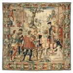 A FLEMISH TAPESTRY, BRUXELLES, EARLY 16TH CENTURY    TAPISSERIE DES FLANDRES, BRUXELLES, DÉBUT DU XVIÈME SIÈCLE ET POSTÉRIEUR