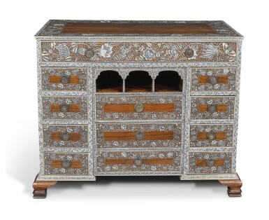 View 6. Thumbnail of Lot 175. AN ANGLO-INDIAN IVORY INLAID ROSEWOOD WRITING OR DRESSING TABLE, VIZAGAPATAM, MID-18TH CENTURY.