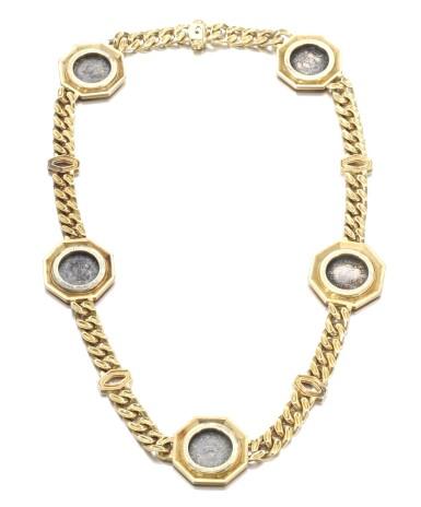 View 3. Thumbnail of Lot 696. Bulgari | Gold sautoir, 'Monete', 1970s | 寶格麗 | 黃金「Monete」長項鏈.