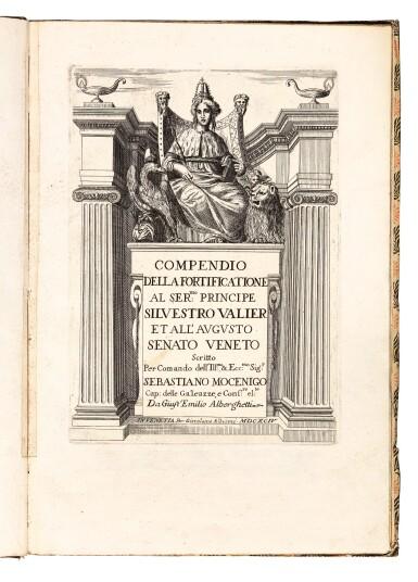 Alberghetti, Compendio della fortificatione, Venice, 1694, modern patterned paper boards