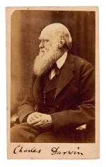 DARWIN   photograph signed, c. 1871