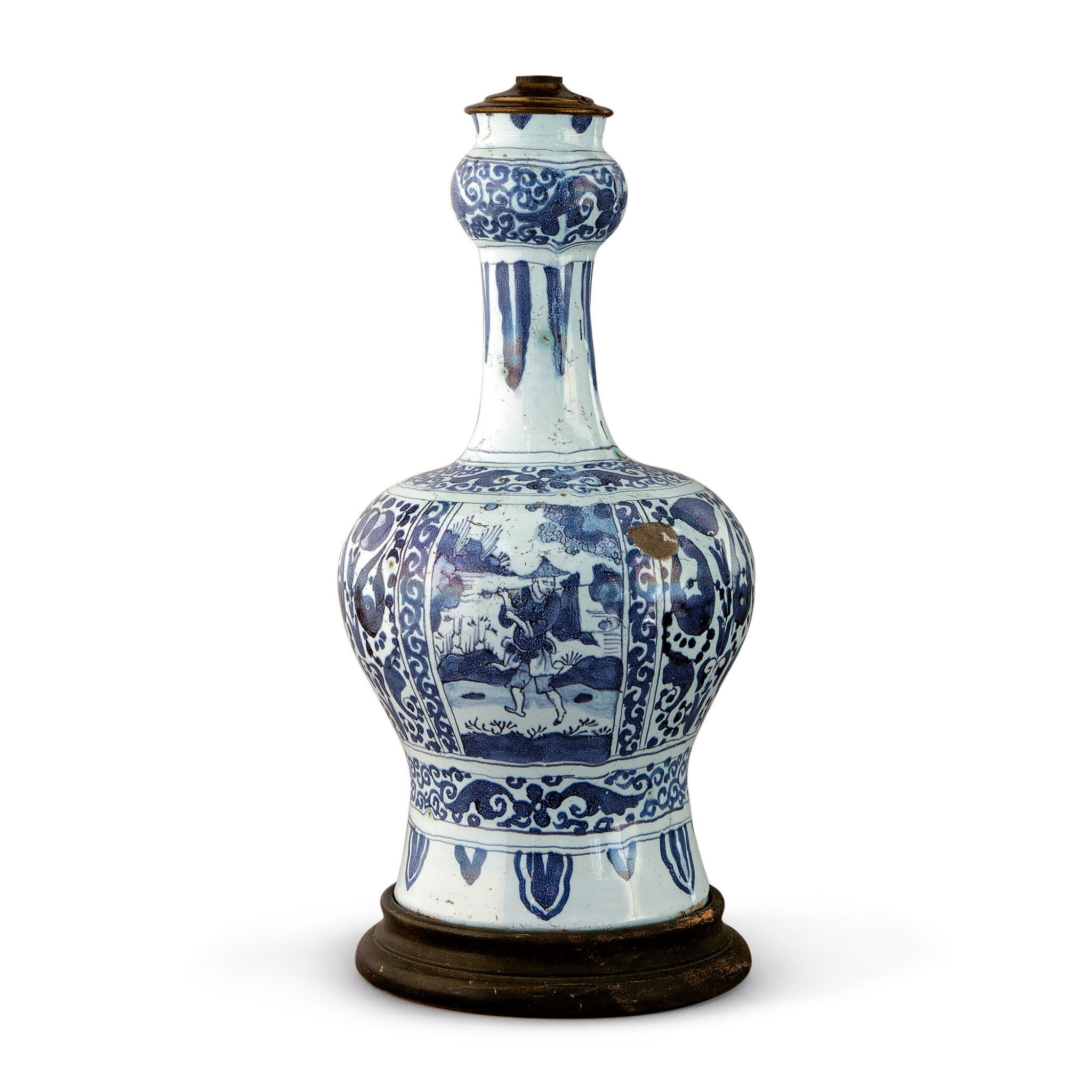 View full screen - View 1 of Lot 531. A DUTCH DELFT BLUE AND WHITE BOTTLE VASE, CIRCA 1700.