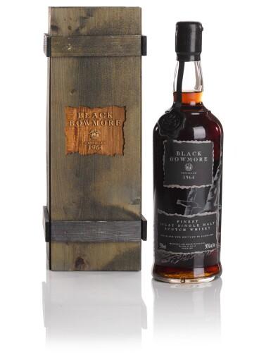 View 1. Thumbnail of Lot 320. BOWMORE BLACK FIRST RELEASE 50.0 ABV 1964   .
