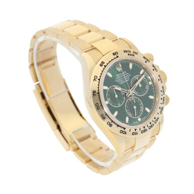 View 2. Thumbnail of Lot 15. ROLEX | REFERENCE 116508 DAYTONA   A YELLOW GOLD AUTOMATIC CHRONOGRAPH WRISTWATCH WITH BRACELET, CIRCA 2019.