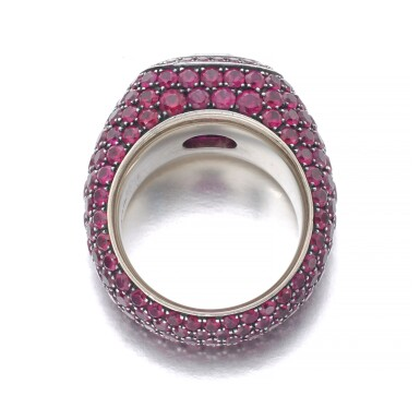 View 3. Thumbnail of Lot 307. HEMMERLE   RUBY RING.