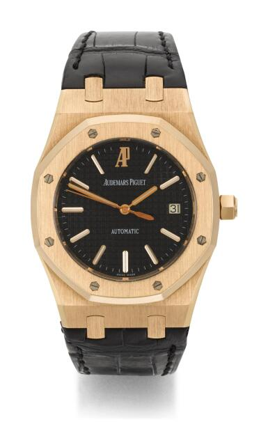 View 1. Thumbnail of Lot 31. AUDEMARS PIGUET   ROYAL OAK, REFERENCE 15300OR.OO.D002CR.01,  PINK GOLD WRISTWATCH WITH DATE,  CIRCA 2006.