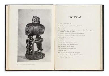 View 1. Thumbnail of Lot 91. BRETON, André. Océanie. 1948. Catalogue d'expo. Reliure maroquin bleu d'Annick Vatant.