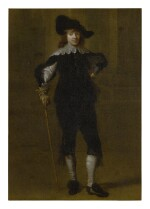 ATTRIBUTED TO GODAERT KAMPER | PORTRAIT OF A GENTLEMAN, FULL LENGTH, IN A HAT AND HOLDING A SWORD