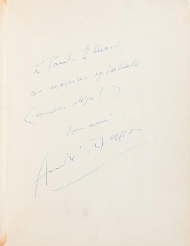 View 4. Thumbnail of Lot 111. . Le Con d'Irène. 1928. Dessin érotique de Masson. Envoi à Nancy Cunard et Eluard. Coll Lacan.