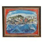 JOHN MARIN | STONINGTON WHARF, NO. 1 (RED AND BLUE, MAINE)