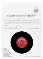 THE BEATLES | Love Me Do, 1962, first pressing, signed by all four Beatles