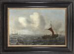 CIRCLE OF JAN PORCELLIS | FISHING VESSELS IN CHOPPY WATERS