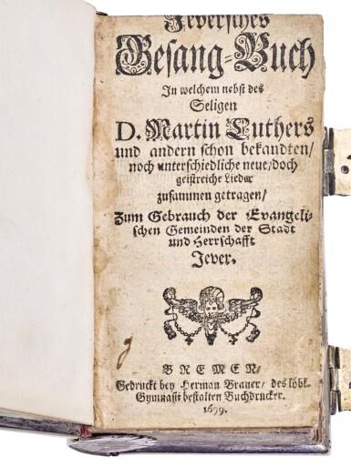 A GERMAN PRINTED BOOK WITH DANISH SILVER MOUNTS , THE MOUNTS, HANS PEDERSEN KOCH, VARDE, CIRCA 1740