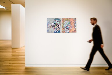 View 5. Thumbnail of Lot 14.  TAKASHI MURAKAMI | HOMAGE TO FRANCIS BACON (STUDY FOR HEAD OF ISABEL RAWSTHORNE; AND GEORGE DYER).