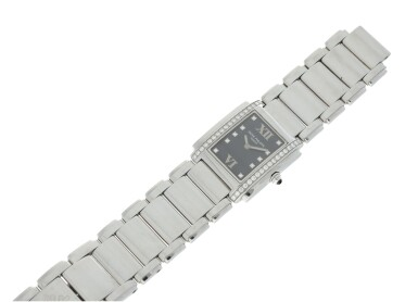 View 6. Thumbnail of Lot 75. REFERENCE 4910/010 TWENTY-4 A STAINLESS STEEL AND DIAMOND-SET BRACELET WATCH, MADE IN 2001.