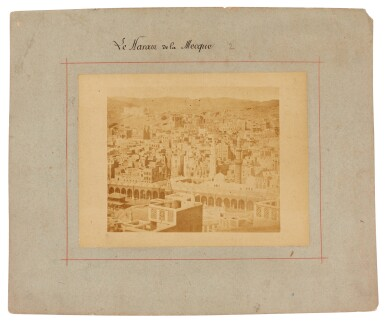 View 2. Thumbnail of Lot 103. Mecca-after Muhammad Sadiq Bey | A collection of seven photographs of Mecca, circa 1880s.