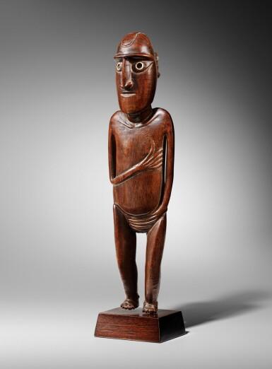 View 4. Thumbnail of Lot 64. Statue, Moai Papa, Île de Pâques | Moai Papa figure, Easter island.