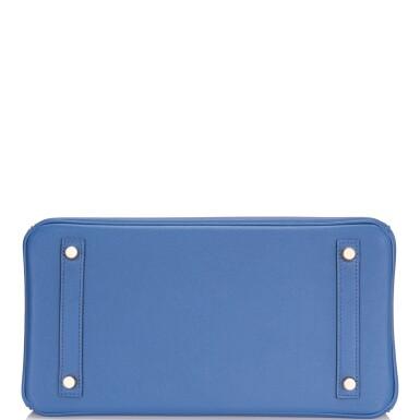 View 5. Thumbnail of Lot 9. Hermès Bleu Brighton Birkin 30cm of Epsom Leather with Gold Hardware.