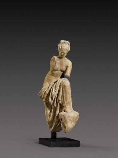View 2. Thumbnail of Lot 71. A Roman Marble Fountain Figure of a Nymph, circa 1st Century A.D..