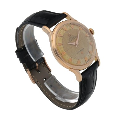 View 3. Thumbnail of Lot 429. CONSTELLATION, REF 2782 PINK GOLD WRISTWATCH CIRCA 1950.