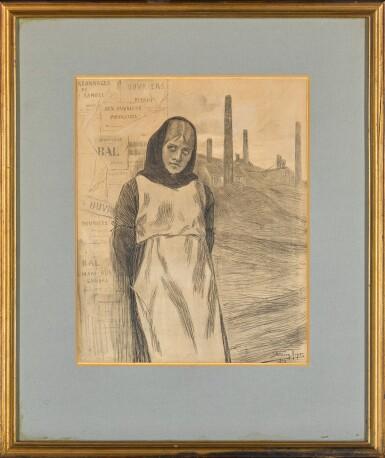 View 2. Thumbnail of Lot 170. Original Drawing for the Print 'La Grève'.