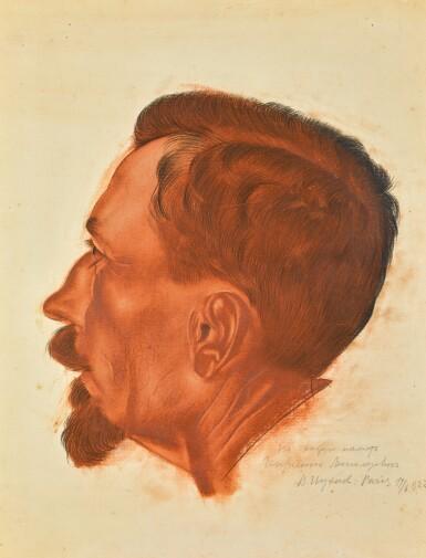 VASILY IVANOVICH SHUKHAEV | Captain Obourd, Study for The Conversation