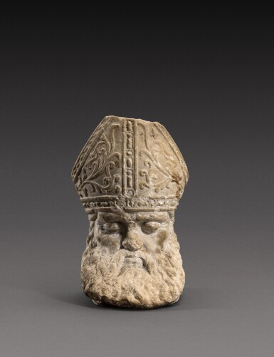 View 1. Thumbnail of Lot 146. Italian, 16th century | Head of a Sleeping Bishop.