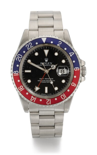 View 1. Thumbnail of Lot 1. ROLEX | GMT-MASTER, REFERENCE 16700, STAINLESS STEEL DUAL-TIME WRISTWATCH WITH DATE AND BRACELET, CIRCA 1991.