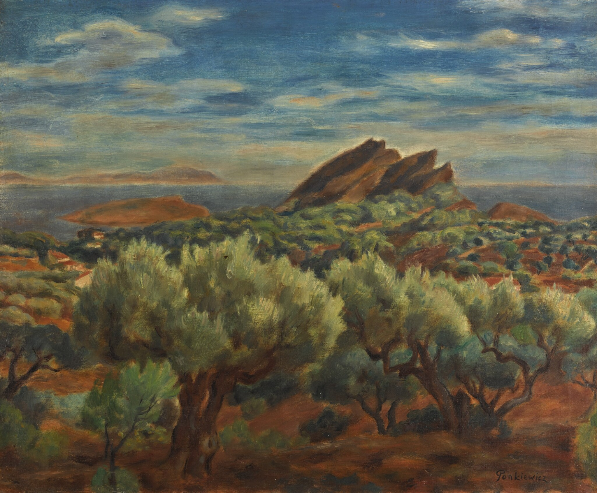 View full screen - View 1 of Lot 13. JÓZEF PANKIEWICZ | LANDSCAPE IN PROVENCE.