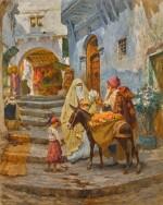 FREDERICK ARTHUR BRIDGMAN | The Orange Seller