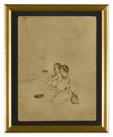 View 2. Thumbnail of Lot 1801. NANDALAL BOSE | JAGAI-MADHAI.