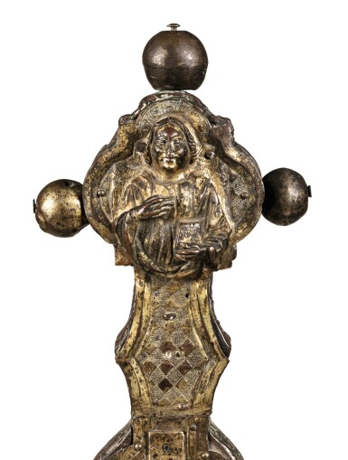 View 6. Thumbnail of Lot 3. ITALIAN, PROBABLY TUSCANY, CIRCA 1500   AN IMPORTANT DOUBLE-SIDED PROCESSIONAL CROSS.