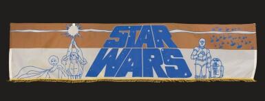 STAR WARS, SILK SCREEN BANNER, US, 1977
