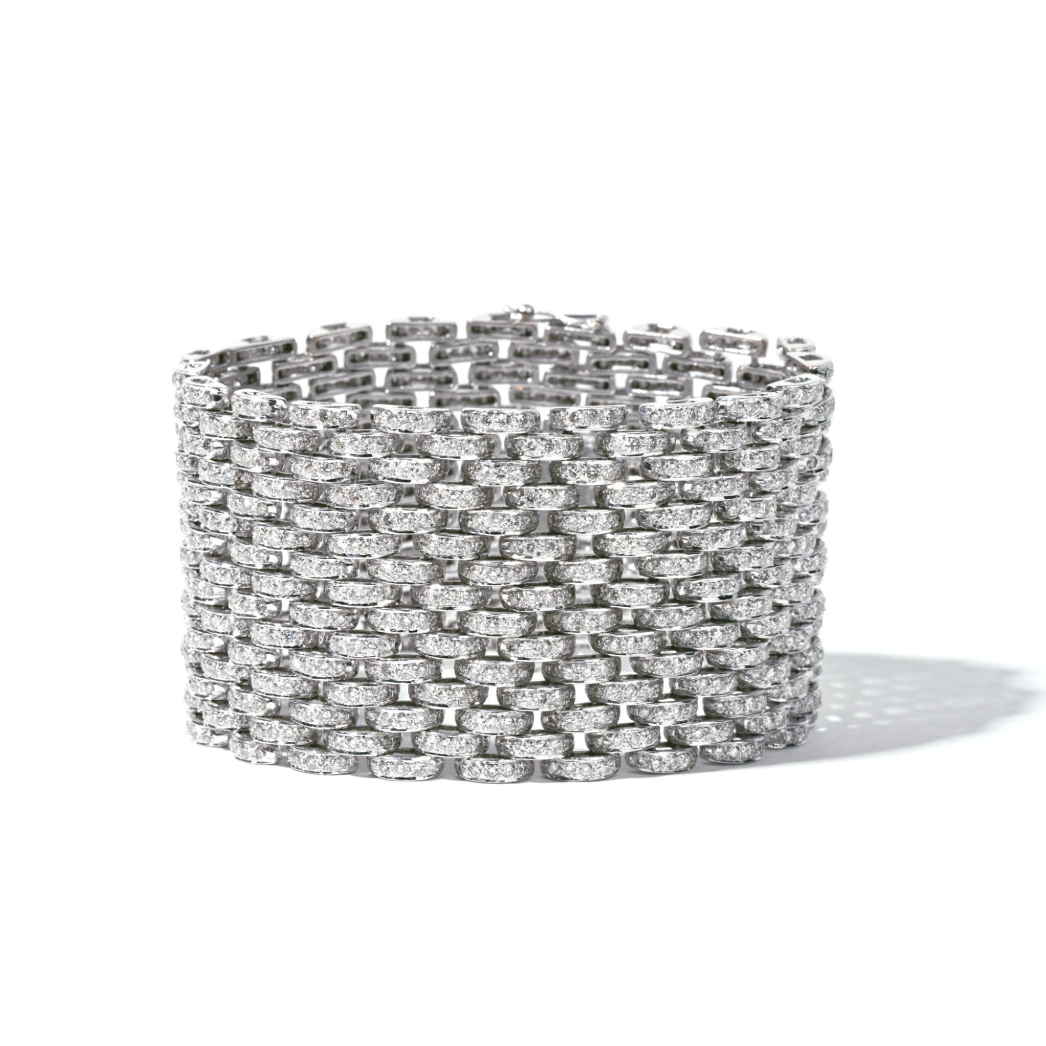 View full screen - View 1 of Lot 7. Diamond Bracelet.