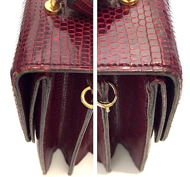 View 16. Thumbnail of Lot 725. GUCCI   BURGUNDY VINTAGE BAG IN LIZARD, c.1960s.