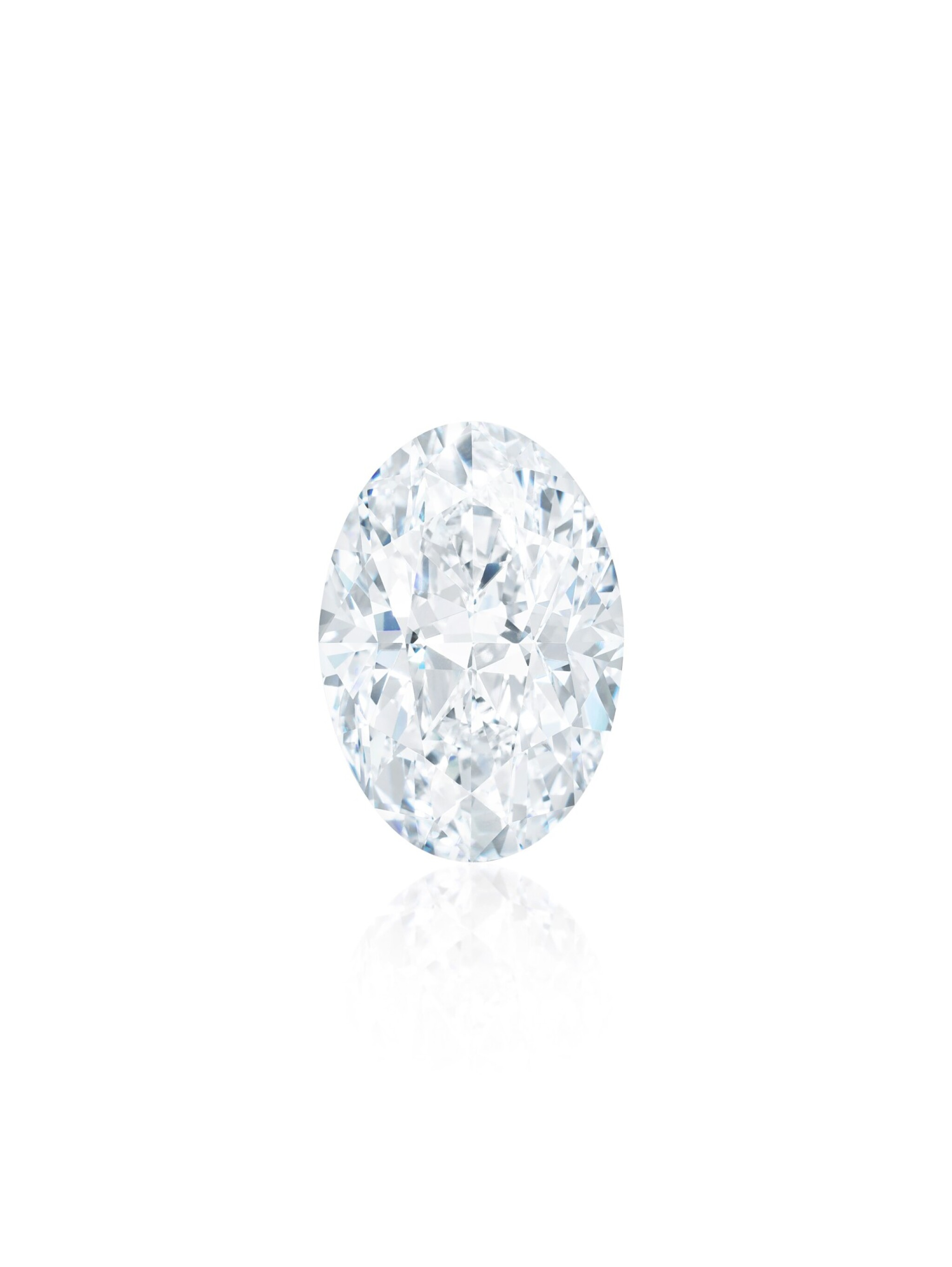 View full screen - View 1 of Lot 1818. A HIGHLY IMPORTANT UNMOUNTED DIAMOND | 102.39卡拉 橢圓形 D色 內外無瑕 Type IIa 全美鑽石.