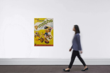 View 2. Thumbnail of Lot 6. PINOCCHIO (1940) POSTER, SPANISH.