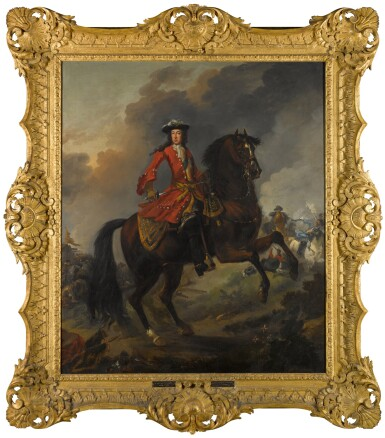 View 2. Thumbnail of Lot 144. Equestrian Portrait of King William III (1650-1702), a battle beyond.