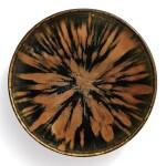 A superb russet-splashed black-glazed bowl, Northern Song / Jin dynasty | 北宋 / 金 黑釉醬花飛斑紋笠式盞