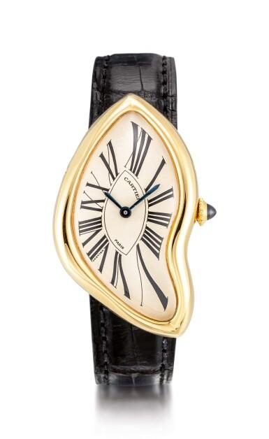 View 1. Thumbnail of Lot 8002. Cartier   Crash, A yellow gold wristwatch, Circa 1991   卡地亞   Crash 黃金腕錶,約1991年製.