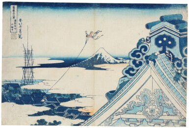 KATSUSHIKA HOKUSAI (1760–1849), EDO PERIOD, 19TH CENTURY | HONGAN-JI TEMPLE AT ASAKUSA IN EDO (TÔTO ASAKUSA HONGAN-JI)