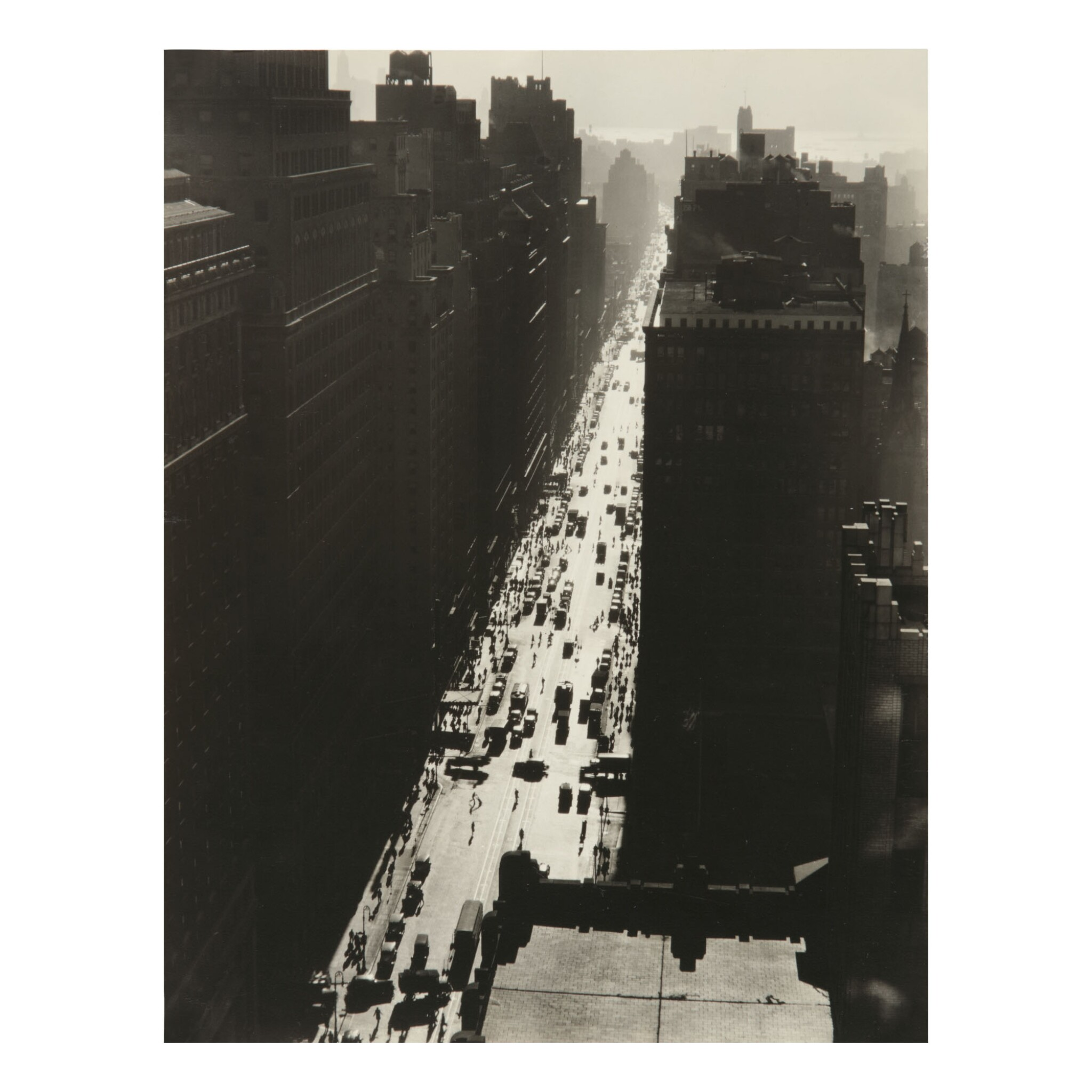 View full screen - View 1 of Lot 50. BERENICE ABBOTT | SEVENTH AVENUE LOOKING SOUTH FROM 35TH STREET.